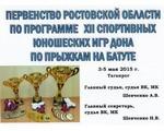 Первенство Ростовской области по программе XII спортивных юношеских игр Дона по прыжкам на батуте